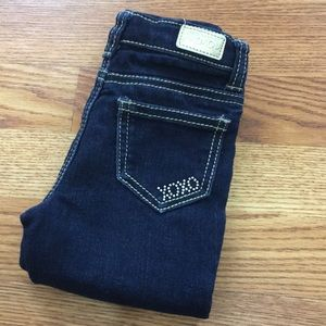 XOXO Toddler Jeans with Crystal accents